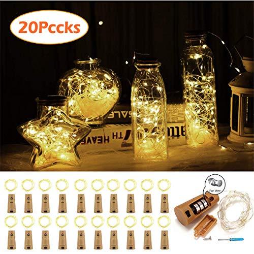 Paquete de 20] Luces de botella LED, VIFLYKOO Luz de hadas de ...