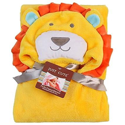 Bazaar Franela niños niños toalla de baño suministros león oso playa natación capucha franela manta
