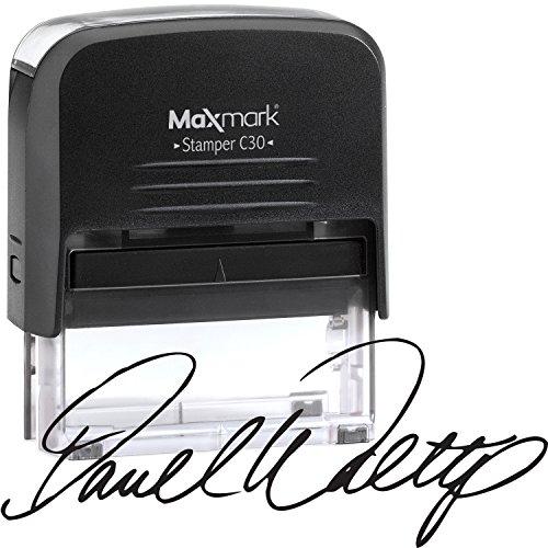 Custom Signature Stamp - Medium Size Self-Inking Stamp Customized with Your Signature