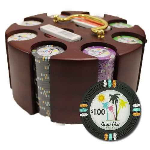 Brybelly CSDH-200C 200Ct Claysmith Gaming Desert Heat Chip Set in Carousel by Brybelly