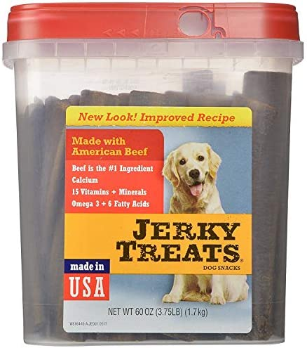 Jerky Treats Tender Strips Dog Snacks Beef 60 oz. 3.75 lbs Jerky-hl Jerky-7q 60 Oz