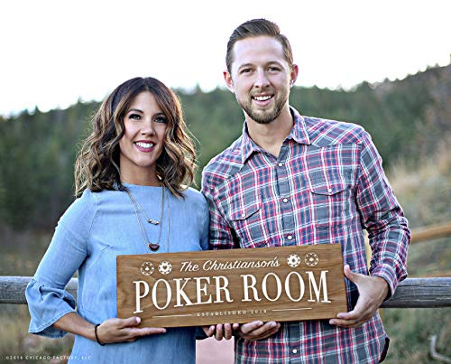 Personalized Wood Poker Sign - CELYCASY Personalized Wood Sign, Poker Room Sign, Poker Sign, Housewarming Gift, Game Room Sign, Home Decor Sign, Game Room Decor (GP1211)