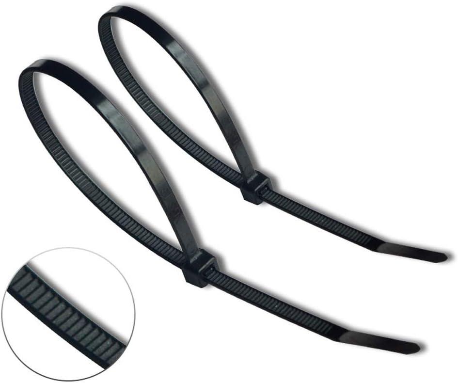 Yeelan Bridas para cables con cremallera de 250 piezas (300 mm x ...
