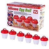 Egglettes Non-Stick Silicone Egg Cookers Without The Shell 6-Pack As Seen on TV with FREE Egg Yolk Seperator