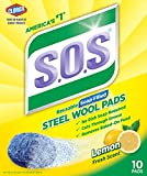 S.O.S. Steel Wool Soap Pads, Lemon Fresh, 10 Count (Pack of 6)