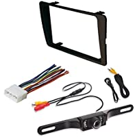 HONDA 2001 - 2005 Civic Non SI Models Car Radio Stereo CD Player Dash Install Mounting Trim Bezel Panel Kit + Harness + Rear View Camera