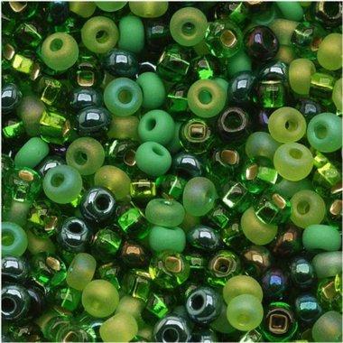 Czech Seed Beads 8/0 Irish Stew Mix (1 (8 Irish Green)