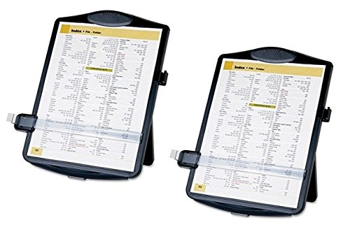 Easel Document Holders, Adjustable, 10 x 2 x 14 Inches, Black (2 Pack)