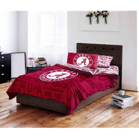 NCAA Twin/Full Comforter and Twin Sheet Set, University of Alabama Alabama Crimson Tide Twin Comforter