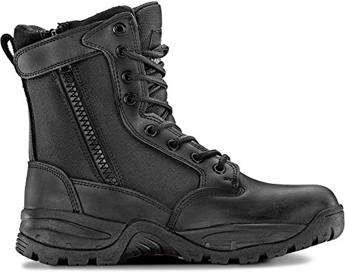 Maelstrom Women's TAC FORCE 8 Inch Military Tactical Duty Work Boot with Zipper, Black, 6.5 M US