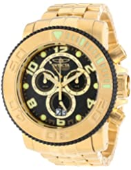 Invicta Mens 10763 Sea Hunter Chronograph Analog Swiss Quartz Gold Ion-Plated Stainless Steel Watch