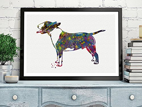 Bull Terrier Watercolor Posters Art Prints Wall Decor Artworks Wall Art Dining Room Art Wall Hanging Kitchen Decor House Warming Gift