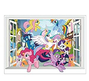My Little Pony Children's Room Waterproof Removable Background Wall Decorative Stickers