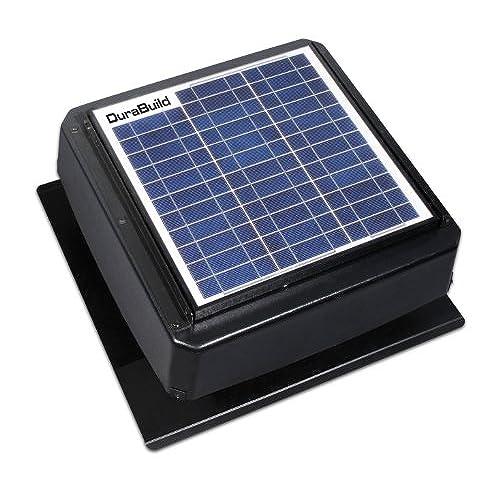 Durabuilt Solar Powered Attic Fan - 20-Watt Roof Mount Ventilator with Adjustable Panel u0026 24 Volt Motor - 527S-DUB-106-BLK  sc 1 st  Amazon.com & Roof Fan: Amazon.com