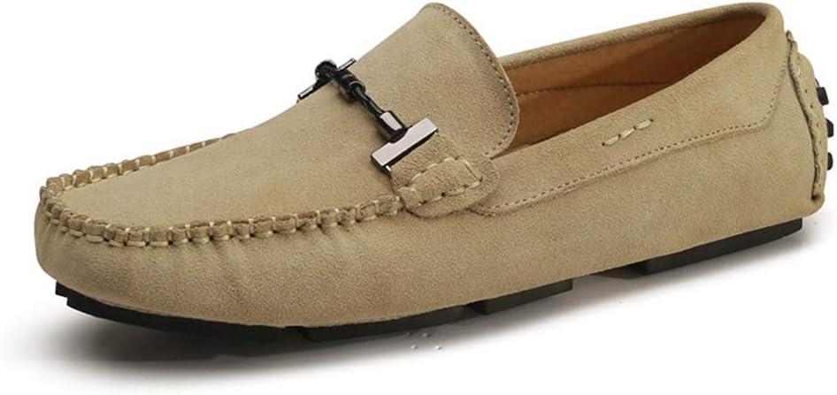 Zhulongjin Mocasines ocasionales para hombres Mocasines mocasines para hombres Zapatos clásicos de barco Cuero de gamuza genuino Caucho antideslizante Suela Costura hecha a mano Resistente al desgaste: Amazon.es: Hogar