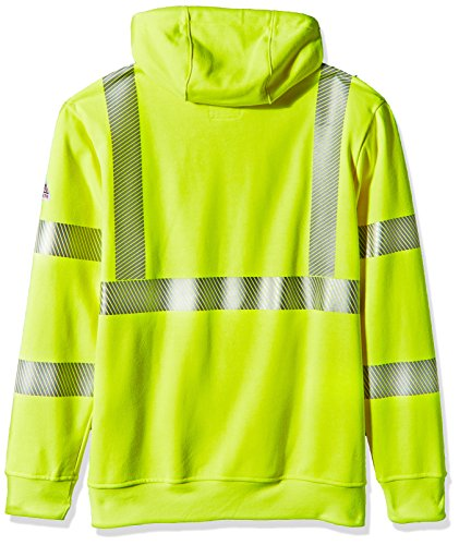 Bulwark Men's Hi-Visibility Pullover Hooded Fleece Sweatshirt, Yellow/Green, X-Large by Bulwark FR (Image #2)