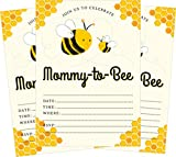 Mommy-to-Bee Bumble Bee Gender Neutral Yellow Baby 5x7 Baby Shower Invites - 24 Invites and 24 White Envelopes