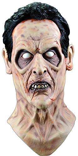 2 Person Costume Theme (UHC Men's Scary Evil Dead 2 Ash Horror Theme Party Latex Halloween Costume Mask)
