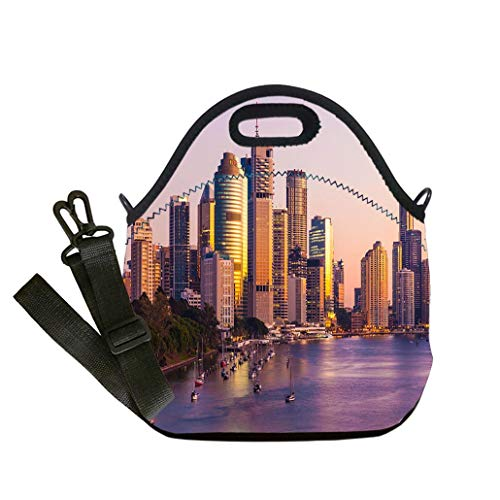 Lunch Box Insulation Lunch Bag Large Cooling Tote Bag Neoprene Insulated Lunch Tote Bag Brisbane Australia custom Stylish Lunch Bag, Multi-use for Men, Women and Kids -