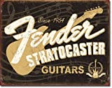 (US) Fender Stratocaster 60th Tin Sign 16 x 13in