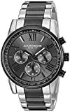 Akribos XXIV Men's AK865TTB Round Black-Dial Chronograph Quartz Black and Silver Tone Bracelet Watch