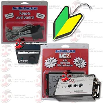 Audiocontrol LC2i 2-channel Line- Output Converter Plus ACR-1 Remote Control with FREE Squash Air Fresheners
