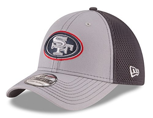 NFL San Francisco 49ers Grayed Out NEO 2 39THIRTY Stretch Fit Cap, Large/X-Large, Gray