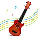 Musical Ukulele Guitar Learning Toys - HANMUN Guitar with 4 Strings Musical Instruments Educational Toys for Kids Children Adult Children (Color in Random)