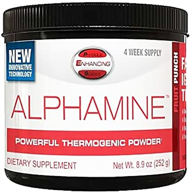PES: Physique Enhancing Science - Alphamine Powerful Thermogenic Powder Fruit Punch - 4-Week Supply - 8.9 oz.