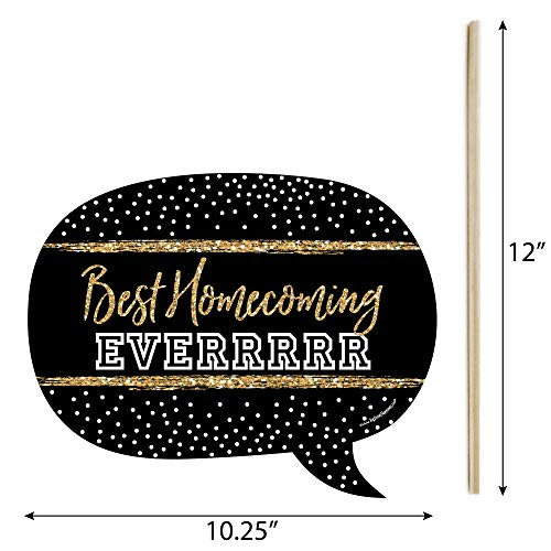 Funny HOCO Dance - Homecoming Photo Booth Props Kit - 10 Piece by Big Dot of Happiness (Image #2)