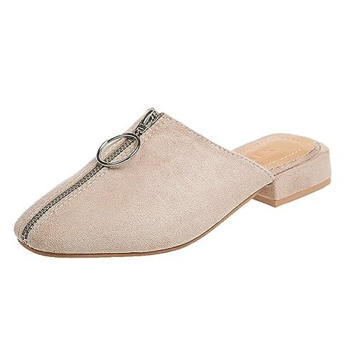 Wildleder Geschlossene Fenverk Damen Schuhe Sandalen vwNm08n