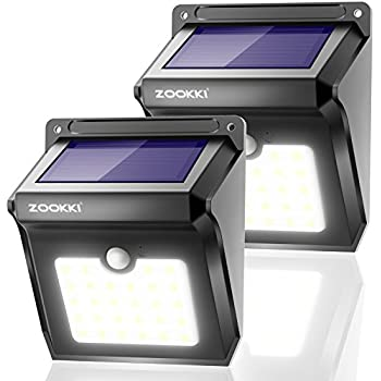 Solar 28 Led Motion Sensor Lights Outdoor Zookki Wireless