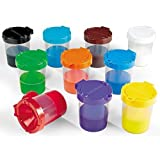 Lakeshore No-Spill Paint Cups - 10-Color Set
