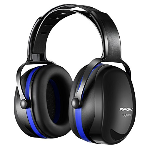 Season Protection - Mpow [Upgraded] Noise Reduction Safety Ear Muffs, SNR 36dB Shooting Hunting Muffs, Hearing Protection with a Carrying Bag, Ear Defenders Fits Adults To Kids with Twist Resistant Headband- Dark Blue