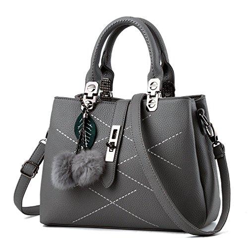 Cadier Womens Designer Purses and Handbags Ladies Tote Bags, Gray