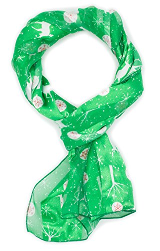 Crown NEW Christmas Scarf w/ Gift Box (Deer-Green)