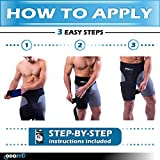 Hip Brace-Groin Wrap for Sciatica Pain Relief Thigh Hamstring Compression Sleeve - Unique Quadriceps Support Hip Flexor Arthritis for Pulled Muscles-Sciatica Nerve Brace Injury for Men