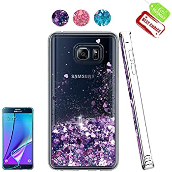 Amazon.com: Galaxy Note 5 Case with Tempered Glass Screen ...