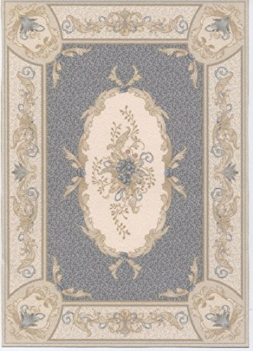- Brodnax Prints Dollhouse Miniature Rug 1:12 Scale &French Aubusson Gray;