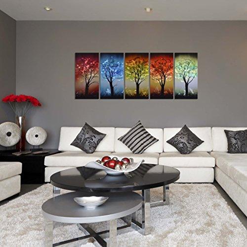 Kitchen Art Lebanon: Pure Art From Dusk Til Dawn Multi-Colored Tree Metal Wall