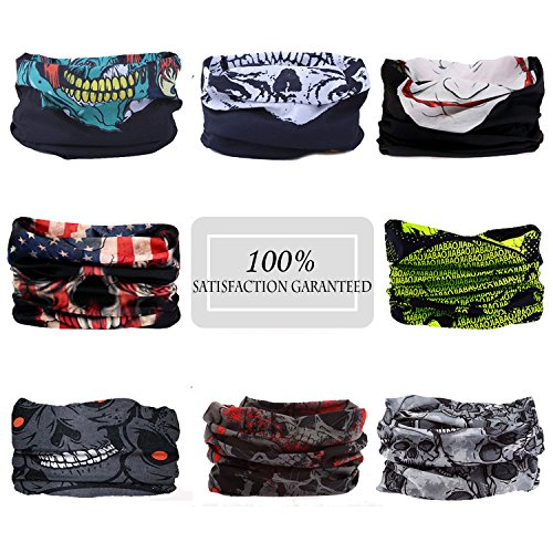 N'joy 8PCS Multifunctional Magic Sports Headband, Seamless Bandana Tube with High UV Protection - 10