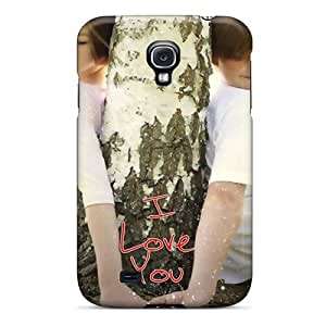 Galaxy S4 Case Cover - Slim Fit Tpu Protector Shock Absorbent Case (i Love You)