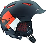 Salomon Prophet Custom Air Helmet 2016 - Medium/Black Mat-Orange