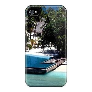 New Arrival OkF4211rMaJ Premium Iphone 4/4s Case(fabulous Resort In The Maldives)