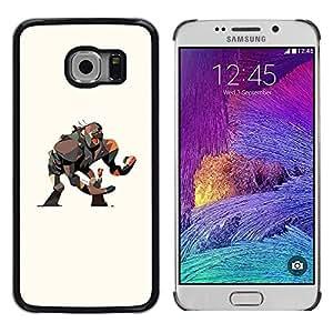 LECELL--Funda protectora / Cubierta / Piel For Samsung Galaxy S6 EDGE SM-G925 -- Monkey Gorilla Big Movie Art Girl Drawing --