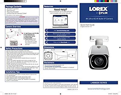 Lorex LNB8005 (POE) (8MP) 4K UHD IP BULLET SECURITY CAMERA by Lorex