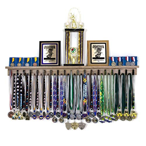 - 4ft Award Medal Display Rack and Trophy Shelf