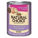 NATURAL CHOICE Sensitive Skin and Stomach Senior Turkey and Rice Formula Premium Ground - 12.5 oz. (355 g), 12 pack