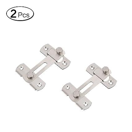 Zhi Jin 2 piezas de acero inoxidable barra cierre puerta ...
