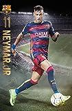 FC Barcelona - Sports / Soccer Poster / Print (Neymar Da Silva Santos Jr. In Action) (Size: 24